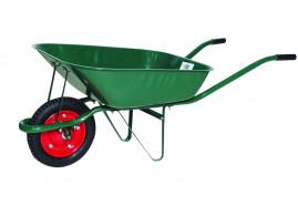kerti talicska, teherbírás 80 kg, a plató térfogata 60 l <br> felfújható kerékkel