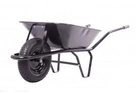 építkezési talicska 60, felfújható kerék, húzott plató, teherbírás 100 kg