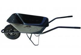 építkezési talicska 80, felfújható kerék, - húzott fekete plató, teherbírás 100 kg