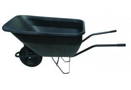 gazdasági talicska 180 l, felfújható kerék, műanyag plató, teherbírás 100 kg