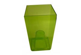 szögletes kaspó, DUW 120P, zöld, méret 120x120x200 mm