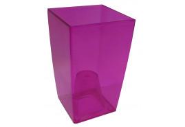 szögletes kaspó, DUW 120P,rózsaszín, méret 120x120x200 mm