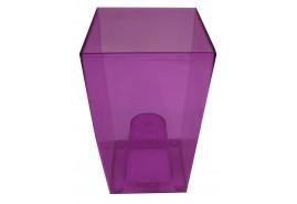 szögletes kaspó DUW 120P, lila, méret 120x120x200 mm