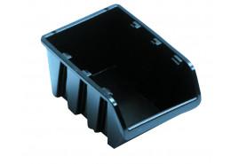 tároló doboz, egymásra rakható NP10 238x158x120 mm, fekete