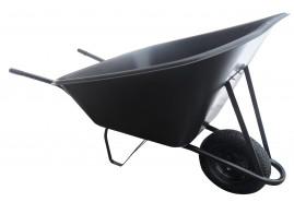 gazdasági talicska 210 l, felfújható kerék, műanyag teknő, teherbírás 100 kg