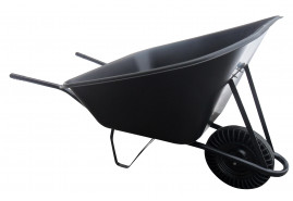 gazdasági talicska 210 l, tömörgumi kerék, műanyag teknő, teherbírás 100 kg