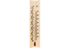 belső hőmérő fából 185x40 mm