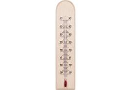 belső hőmérő fából 230x50 mm