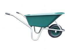 LIVEX talicska 100 l, horganyzott keret, felfújható kerék, összeszerelt, műanyag teknő, piros, teherbírás 100 kg