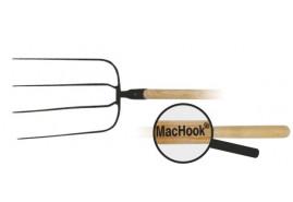 MacHook villa, BAV. 4-csúcsos, nyéllel, 130, fekete